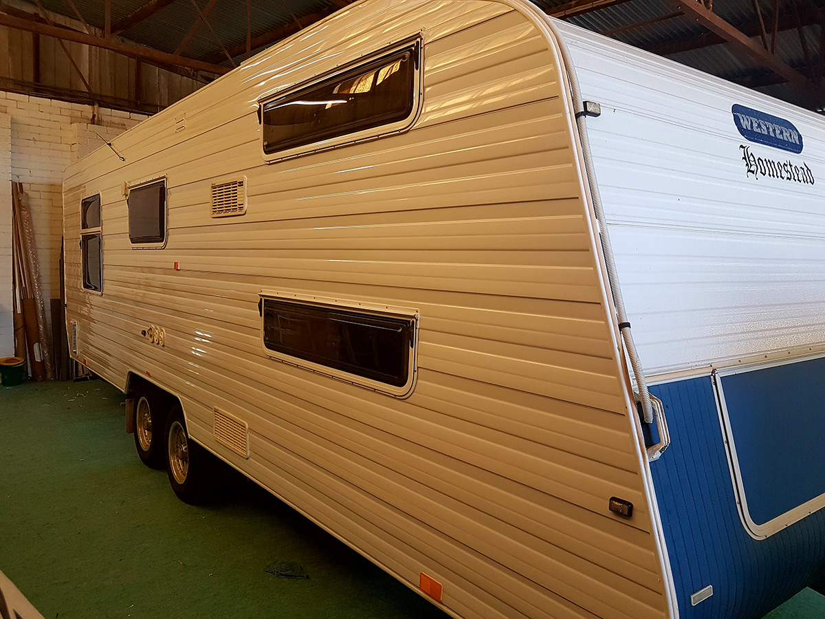 After Picture Of The Caravan Ready To Go & As Good As New - Mandurah - Foreshore Caravan Repairs
