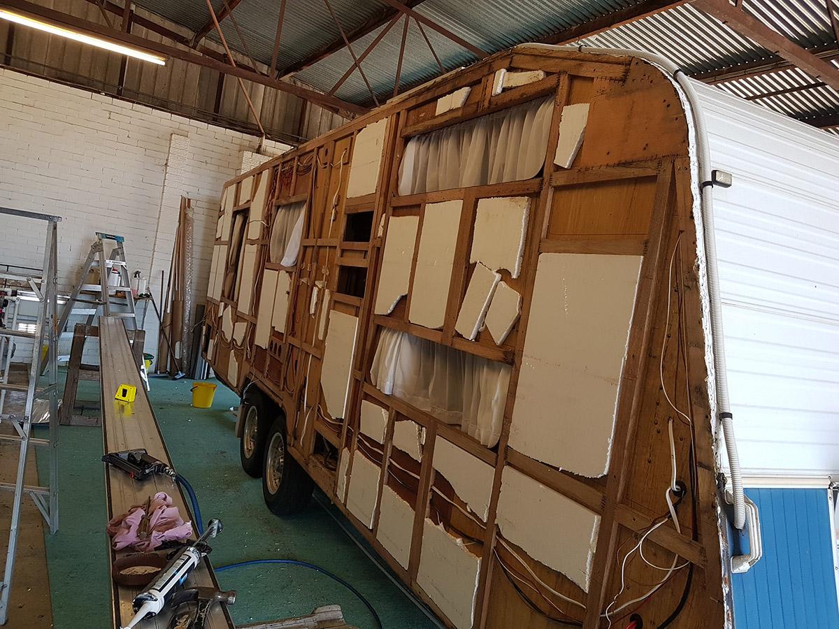 Before Picture Of A Caravan In Disrepair - Mandurah - Foreshore Caravan Repairs