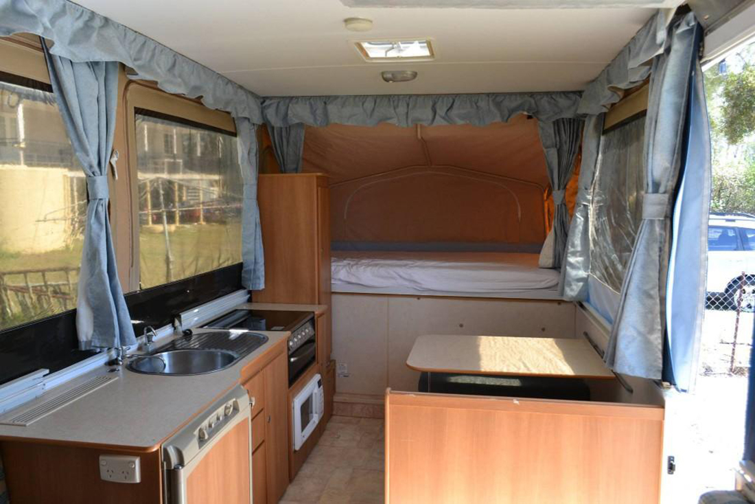 Inside Of A Hire Caravan - Caravans For Hire Mandurah